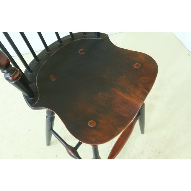 1990s Windsor Style Fan Back Windsor Bar or Counter Chairs - a Pair For Sale - Image 5 of 12