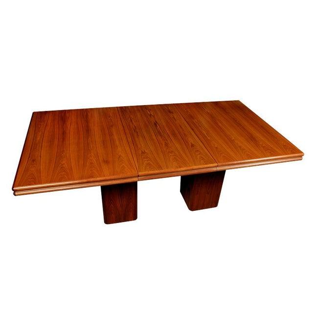 Vintage Rosewood Pedestal Base Dining Table - Image 1 of 4