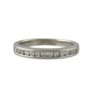 Vintage Platinum & Diamond Anniversary Band Ring For Sale