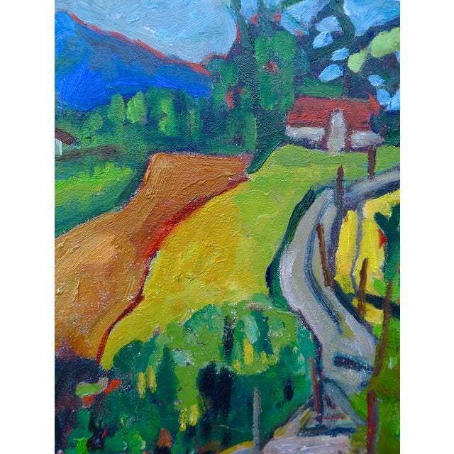 Swiss Farm in Summer Plein Air Painting - Image 3 of 6