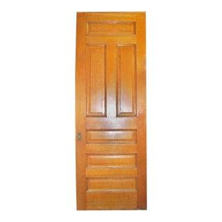 Single Oak Pocket Door With Wheels