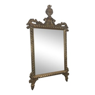 1940s Italian, Modern Brass Mantel & Fireplace Mirror For Sale
