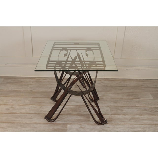 Industrial Modern Handmade Wrought Iron Side Tables For Sale - Image 3 of 10