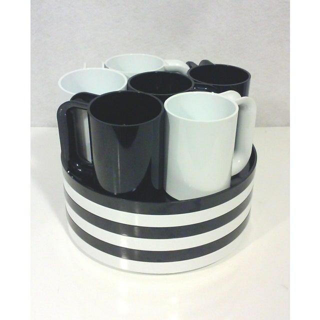 Black and White Melamine Dishes - Set of 12 - Image 3 of 5