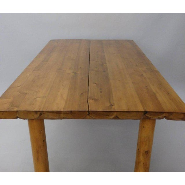 Knotty Pine Rustic Adirondack Ranch or Cottage Dining Table With Benches For Sale - Image 4 of 10