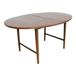 Mid-Century Modern Paul McCobb Style Walnut Extendable Dining Table For Sale