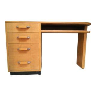 1930's Vintage Eliel Saarinen Streamline Birch Desk For Sale