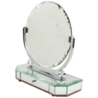 French Venetian Style Vanity Mirror With Jewelry Case For Sale