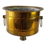 Image of Vintage Brass Planter For Sale