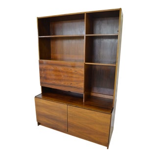 Mid Century Rosewood Bookcase/Desk For Sale