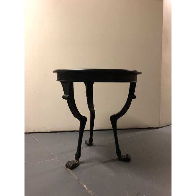 2020s Ebony Finish Claw Foot Side Table For Sale - Image 5 of 5