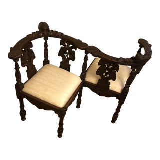 Antique French Tete Te Kissing Bench For Sale