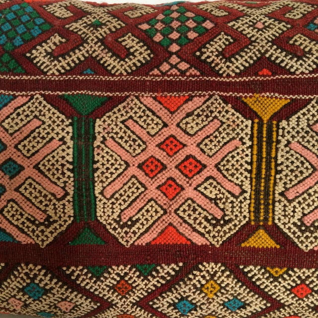 Burgundy Turkish Kilim Pillow - Image 11 of 11