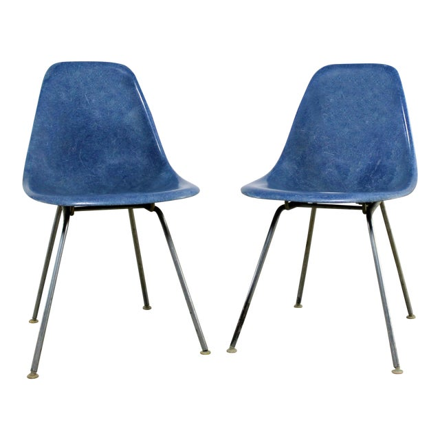 Vintage Herman Miller Eames Molded Fiberglass DSX Chairs - A Pair - Image 1 of 11
