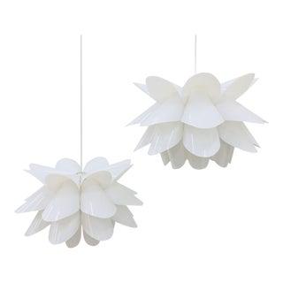 Modern Lotus Lights - A Pair