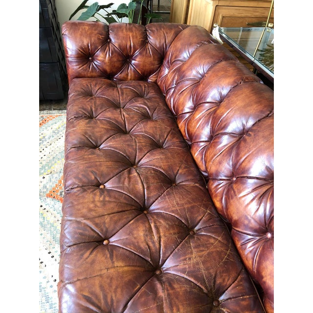 Sink yourself into this sumptuously soft and well loved Chesterfield. This one is of high quality construction in gorgeous...