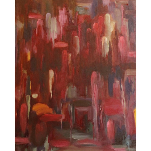 "Riveting ""Concerto of Color version II,"" an abstract oil painting on wrapped canvas with painted edges. Signed ""SN"" lower..."