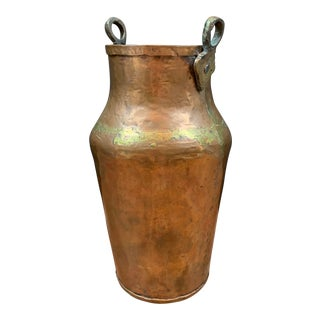 Antique Rustic Style Copper and Brass Vessel/Urn For Sale