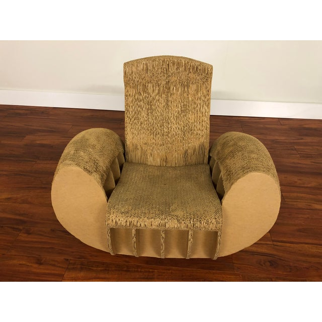 Rocking Lounge Chair Made Entirely of Cardboard For Sale - Image 12 of 13
