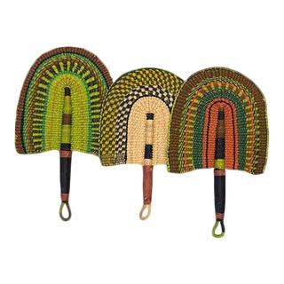 Ghanan Hand Woven Bolga Fans - Set of 3