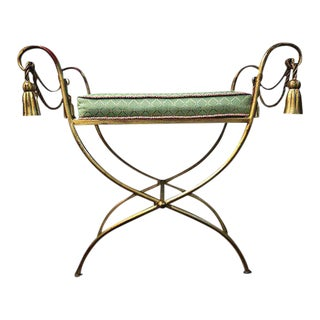 Stool - Italian Stool With Rope & Tassel Design
