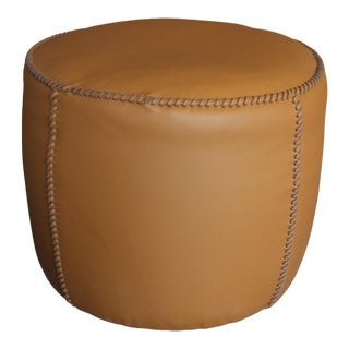Modern Black Tie Casablanca Pouf For Sale