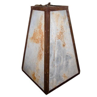 Rustic Aged Planter Lantern For Sale