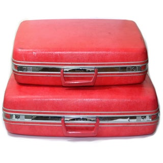 Red Samsonite Luggage - A Pair