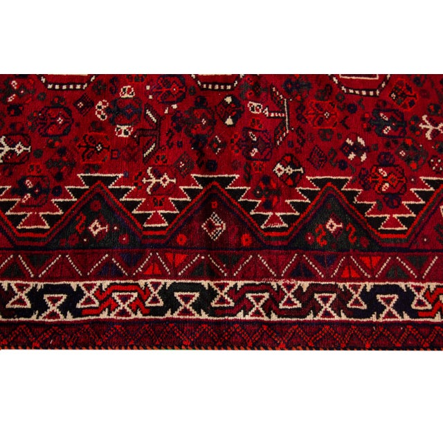 """Textile Vintage Persian Shiraz Rug, 5'6"""" X 8'9"""" For Sale - Image 7 of 9"""