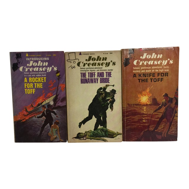 John Creasey 1960s Mystery Books - Set of 3 For Sale