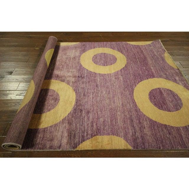 "Modern Purple Gabbeh Area Rug - 5'7"" x 8'2"" - Image 10 of 10"