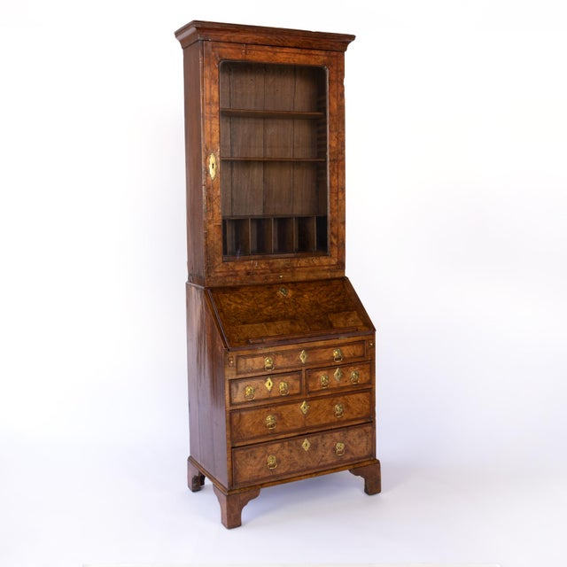 English George I Walnut Bureau Bookcase, English, Circa 1710 For Sale - Image 3 of 8