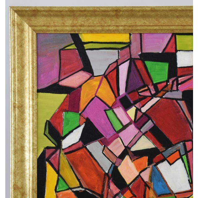 Juan Guzman Original Colorful Abstract Painting For Sale - Image 4 of 10