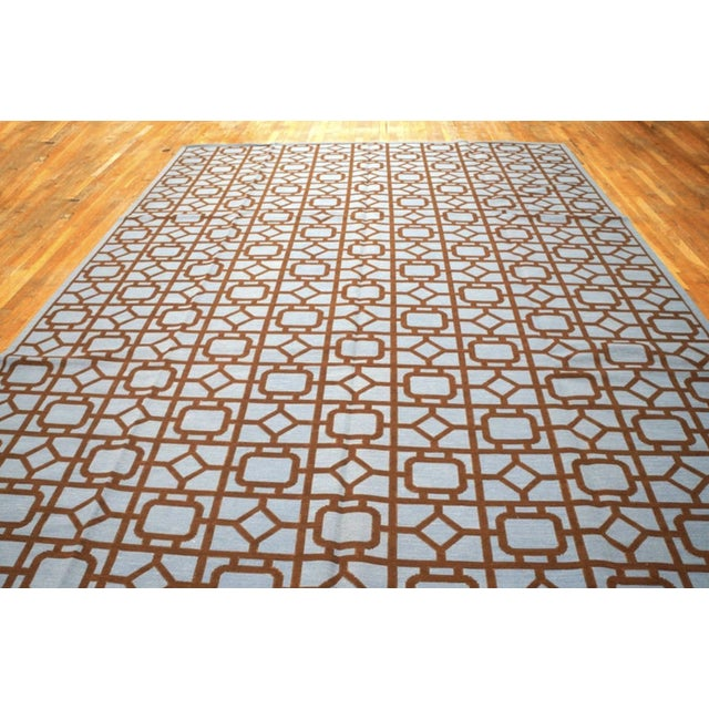 """Modern Needlepoint Wool Rug 9'0"""" X 12'0"""" For Sale - Image 9 of 10"""