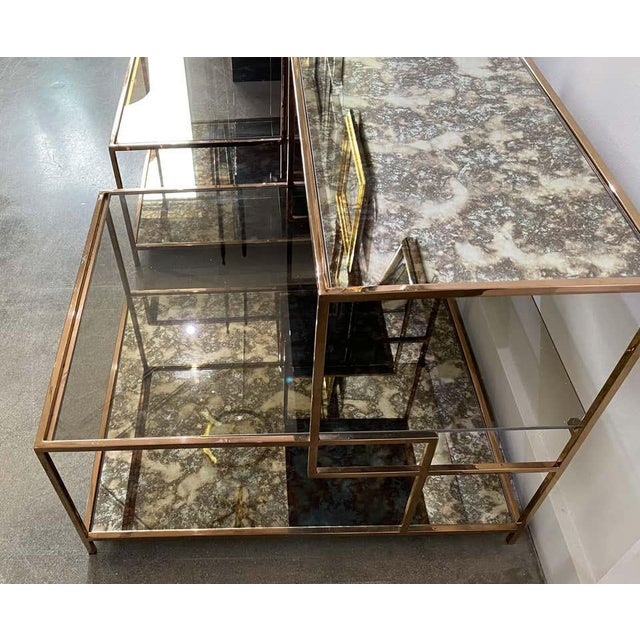 Gray Milo Baughman Style Italian Side or Night Tables - a Pair For Sale - Image 8 of 13