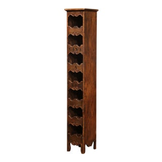 """Louis XV Carved Fourteen Wine Bottle Storage Cabinet """"Cave a Vin"""" For Sale"""