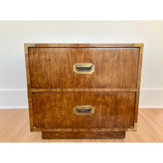 Late 20th Century Dixie Campaign Nightstand For Sale - Image 12 of 12