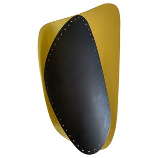 1950s Black and Yellow Sconce Made in Germany For Sale