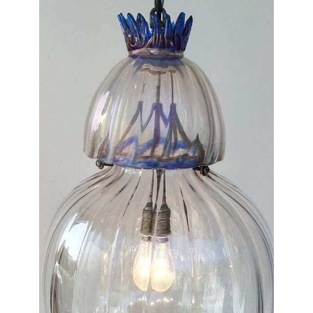 Art Deco Large Art Deco Murano Glass Lantern For Sale - Image 3 of 7