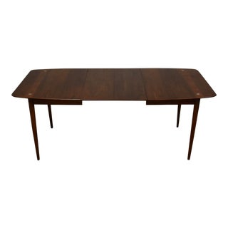 American of Martinsville Walnut & Aluminum Dining Table For Sale