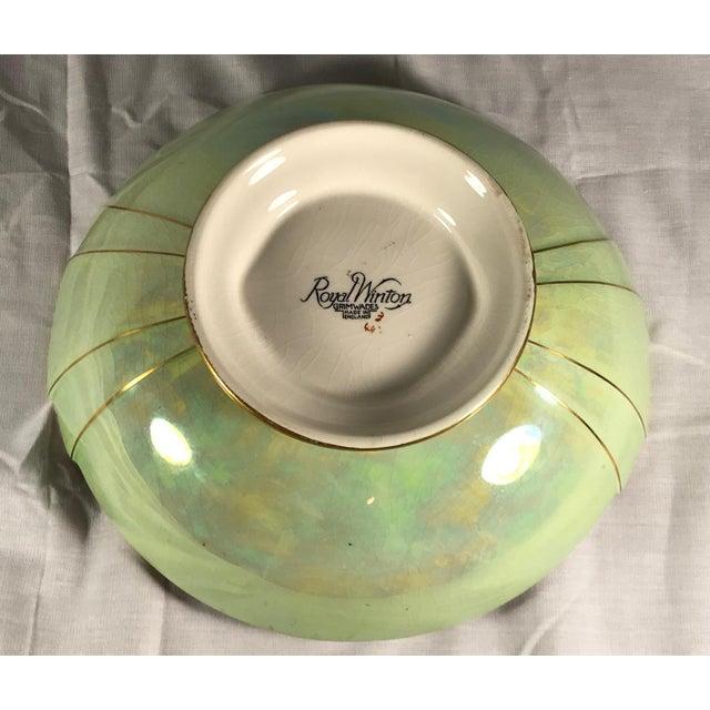 Vintage Royal Winton Grimwades Footed Trinket Dish For Sale - Image 9 of 11