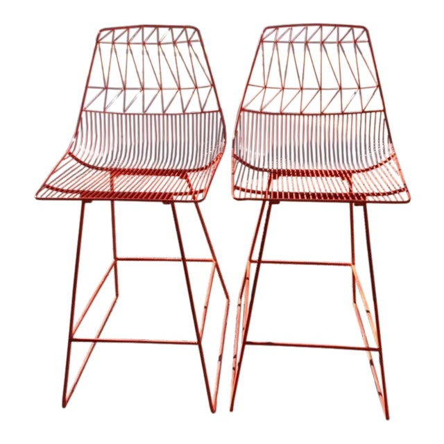 Modern Bend Lucy Counter Stools- a Pair For Sale