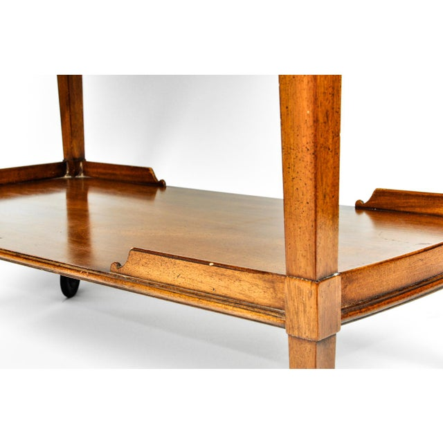 Copper Mid-20th Century Satinwood Mahogany Bar Cart or Tea Trolly For Sale - Image 8 of 13