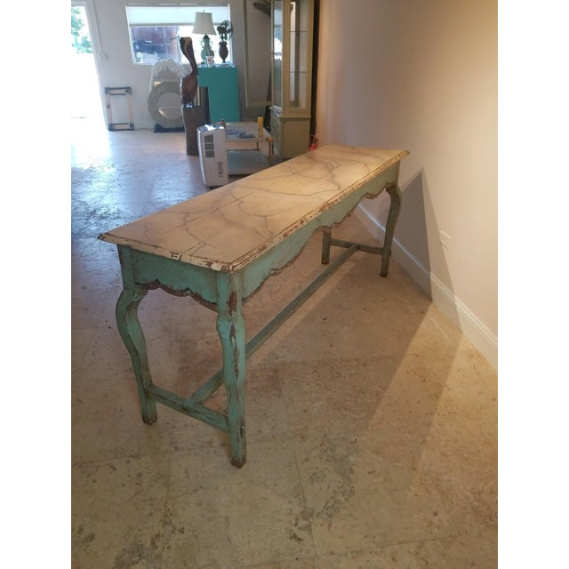 1990s French Country Nierman Weeks Console For Sale In Miami - Image 6 of 7