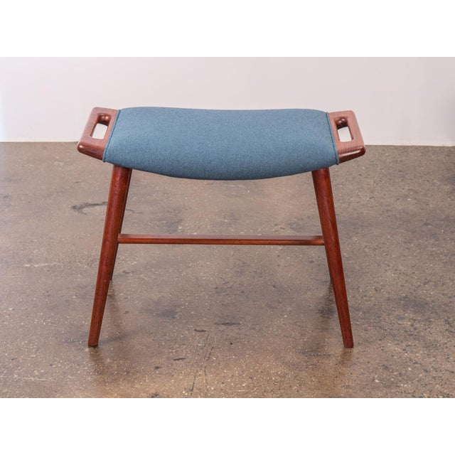 Obscure and very rare piano bench designed by Hans J. Wegner for AP Stolen. Our example is newly upholstered in a rich,...