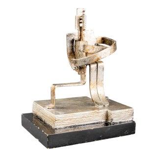 Brutalist Embracing Figures Modern Metal Sculpture For Sale