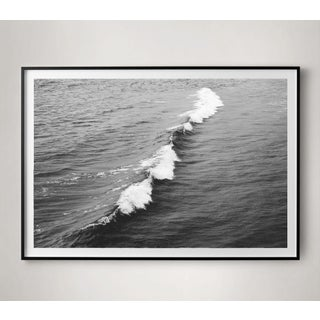 Large Black and White Crashing Wave Photograph Preview