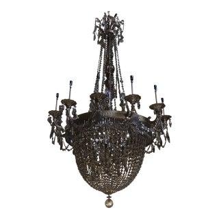 Schonbek Swarovski Lighting La Scala Empire Bronze Chandelier For Sale