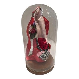 Anne Connors Glass Domed Diamond Point Ballet Slipper For Sale
