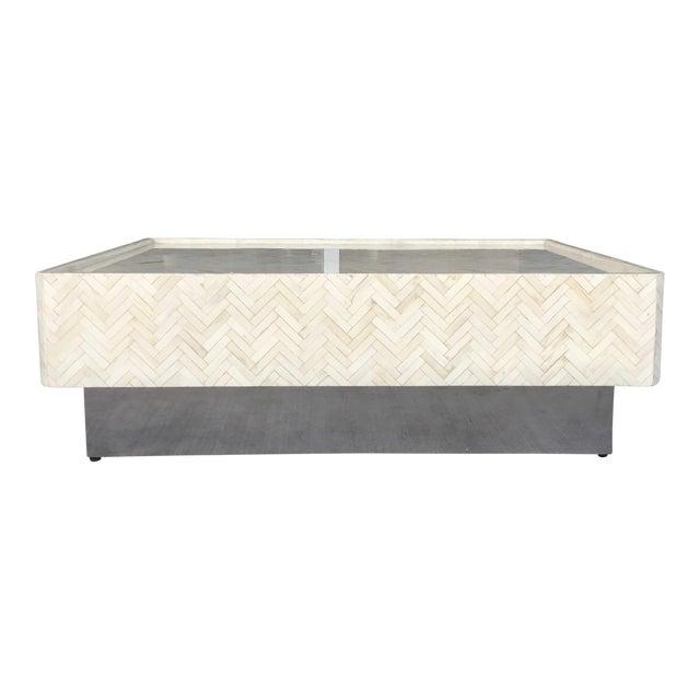 Tessellated Bone Coffee Table - Image 1 of 7